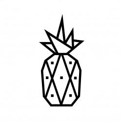 kit diy masking tape ananas noir