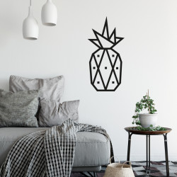 decoration murale diy masking tape ananas noir
