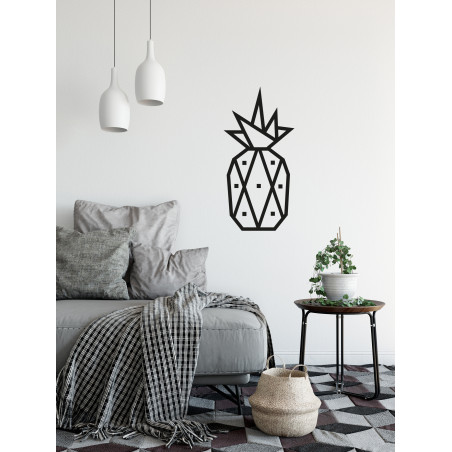 decoration murale diy masking tape ananas noir