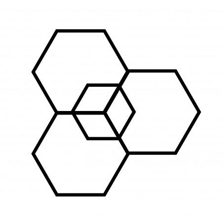 kit diy masking tape deco hexagone masking tape noir