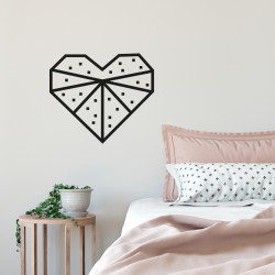 Kit masking tape DIY decoration murale chambre cœur noir