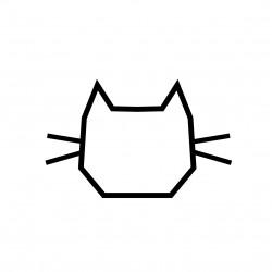 deco chambre enfant masking tape chat noir