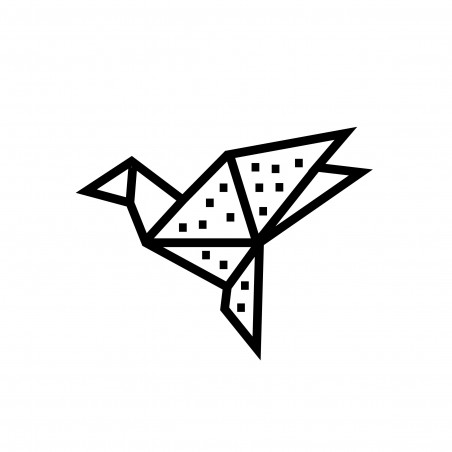 Kit creatif masking tape DIY oiseau decoration murale noir avec pois