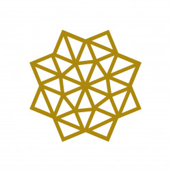 kit diy etoile masking tape deco mur motif doré