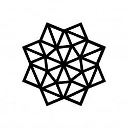 kit diy etoile masking tape deco mur motif noir