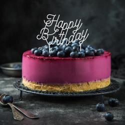 Cake topper déco gâteau blanc happy birthday