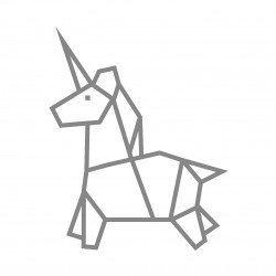 kit diy deco licorne masking tape argenté