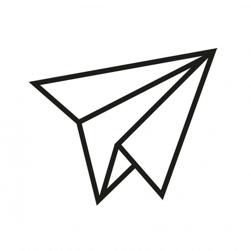 kit diy avion en papier en masking tape noir