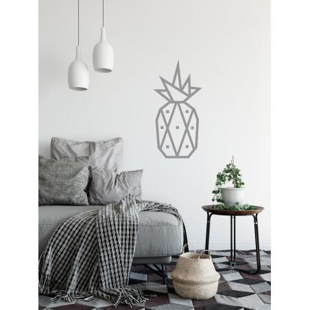 decoration murale diy masking tape ananas argenté