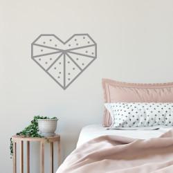 Kit masking tape DIY decoration murale chambre cœur argenté