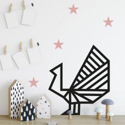 Idée déco chambre enfant stickers autocollant étoile vieux rose