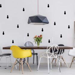 Idée déco mur salon ananas noir