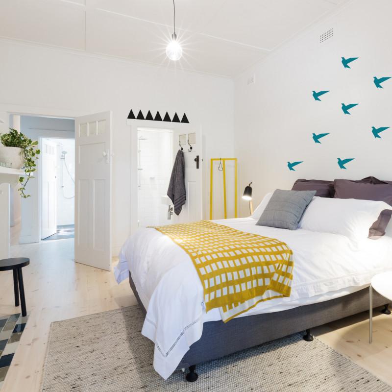 Idée déco mur chambre oiseau bleu canard
