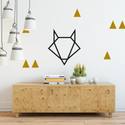 Déco mur chambre stickers triangles or