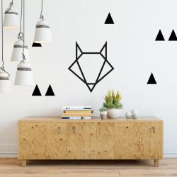 Déco mur chambre stickers triangles noir