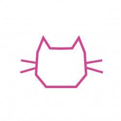 deco chambre enfant masking tape chat rose