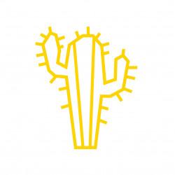 Deco DIY murale en masking tape cactus jaune