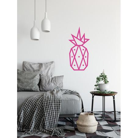 decoration murale diy masking tape ananas rose