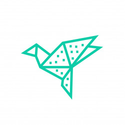 Kit creatif masking tape DIY oiseau decoration murale menthe avec pois