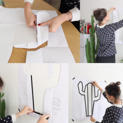 Tuto cactus en masking tape kit creatif deco murale maison
