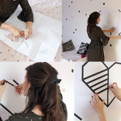Tuto DIY masking tape decoration murale cœur