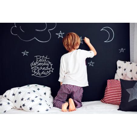 Déco mur lettrage chambre enfant petit dormeur grand rêveur plexi blanc