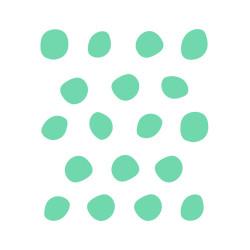 stickers muraux pois irréguliers déco mur menthe vert
