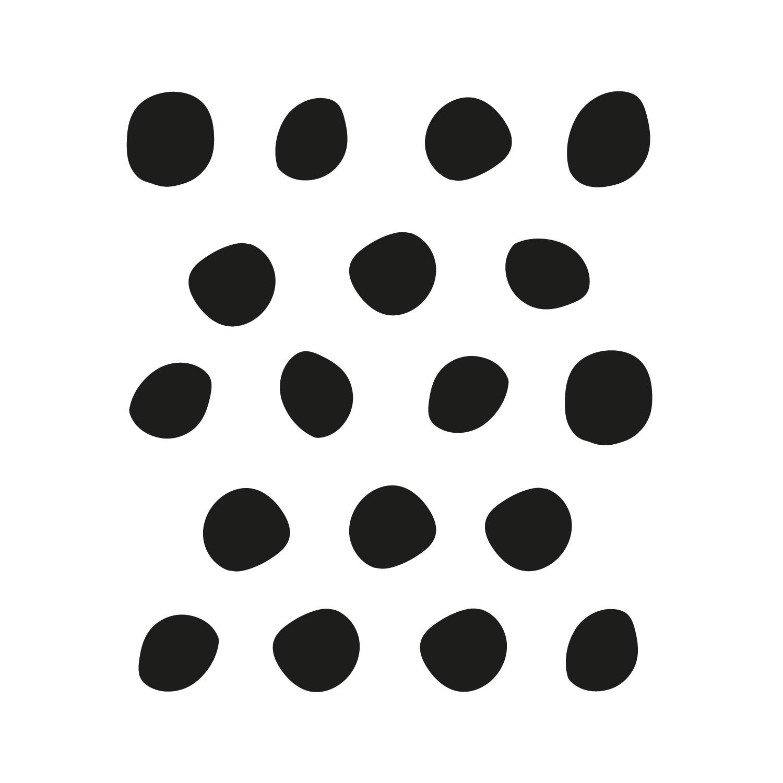 stickers muraux pois irréguliers déco mur noir