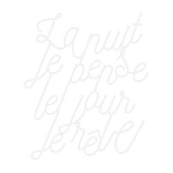 Lettrage poétique à accrocher au mur la nuit je pense je jour je rêve plexiglas blanc