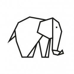 kit diy masking tape elephant noir