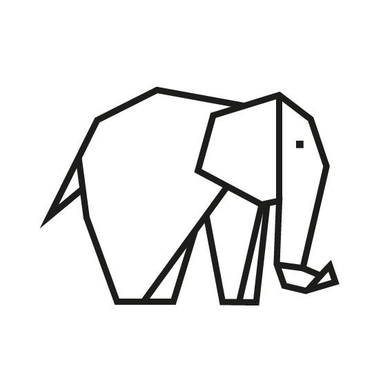 kit diy masking tape elephant noir