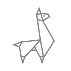 kit diy masking tape chambre enfant lama argenté