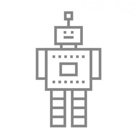kit diy robot masking tape argenté