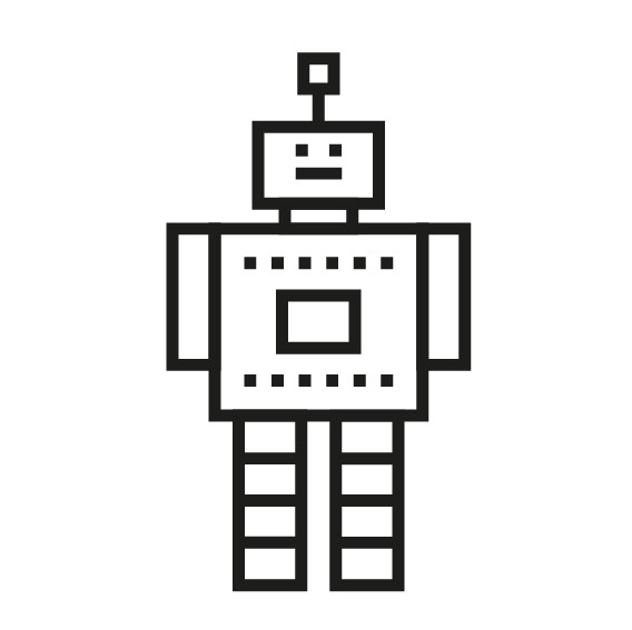 kit diy robot masking tape noir