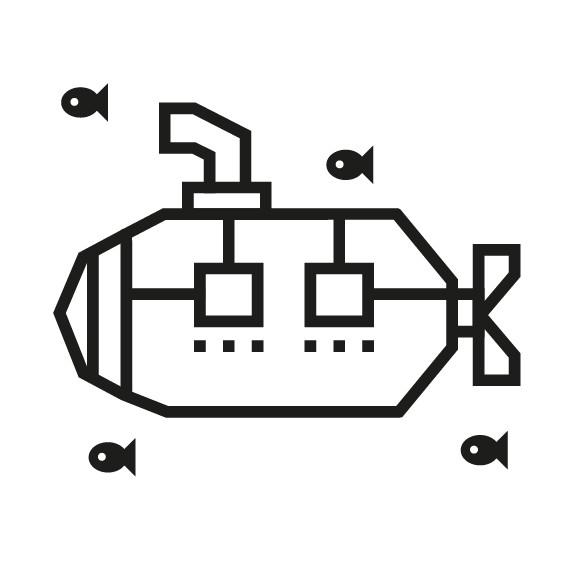 kit diy masking tape sous-marin noir