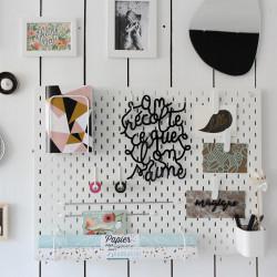 Déco mur lettrage poétique on récolte ce que l'on s'aime plexi noir