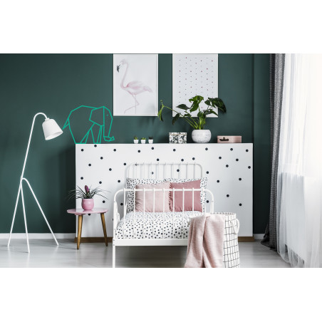décoration murale chambre enfant masking tape éléphant menthe