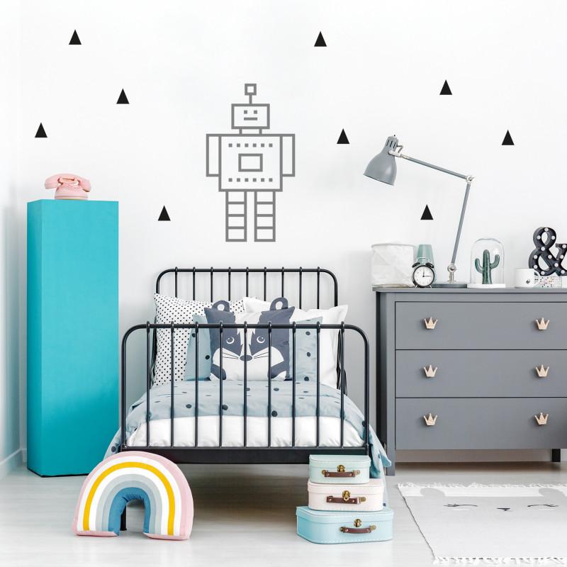decoration murale masking tape chambre enfant argenté