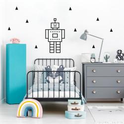decoration murale masking tape chambre enfant noir
