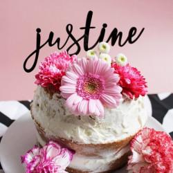 Cake topper personnalisé prénom ou mot plexi noir
