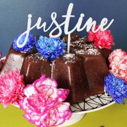 Cake topper personnalisé prénom ou mot plexi blanc