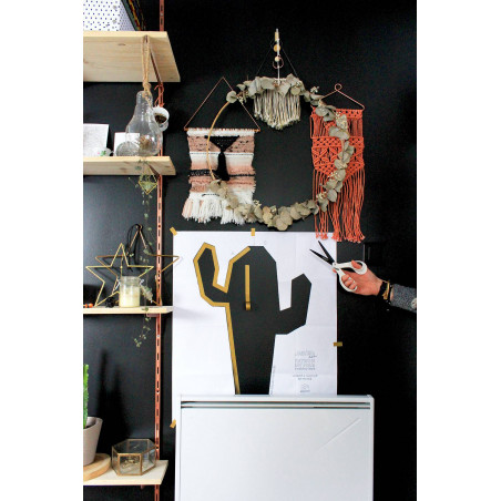 Tuto DIY cactus kit creatif pour masking tape salon maison deco murale