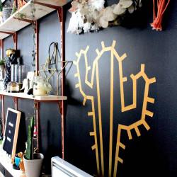 Cactus en masking tape scotch salon maison deco murale