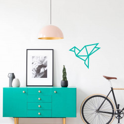 Kit creatif DIY masking tape oiseau decoration mur salon menthe basic