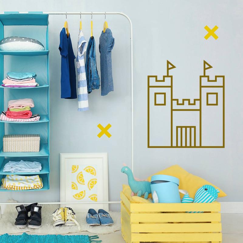 Kit masking tape chambre enfant deco murale doré