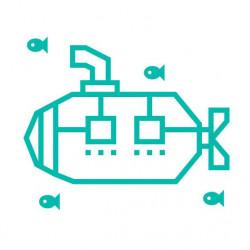 kit diy masking tape sous-marin menthe