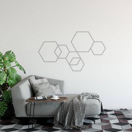 Déco mur masking tape DIY argent