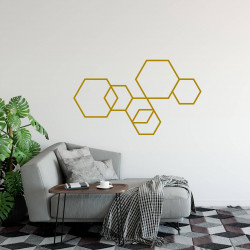 Déco mur masking tape DIY doré