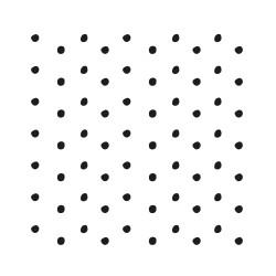 stickers mur repositionnable petit pois irrégulier noir