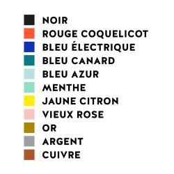 couleur stickers muraux décoration autocollant MilieO